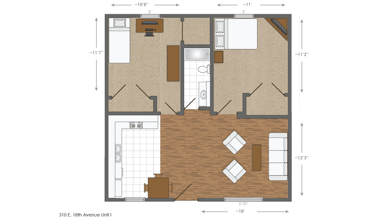 310 E. 18th Ave. layout